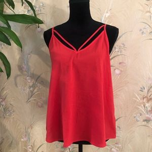 Red Sheer Strappy Tank